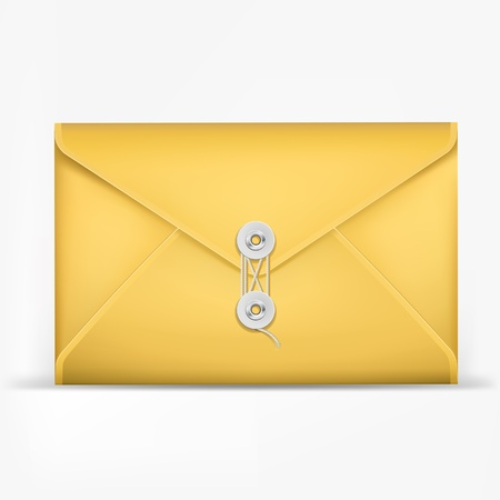 letter envelope: Brown Envelope with rope  Illustration
