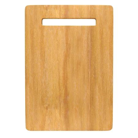 recortando: Tablero de madera para picar aislados en fondo blanco con trazado de recorte.
