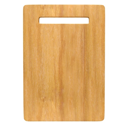 Wood Chopping board isolated on white background with Clipping path. photo