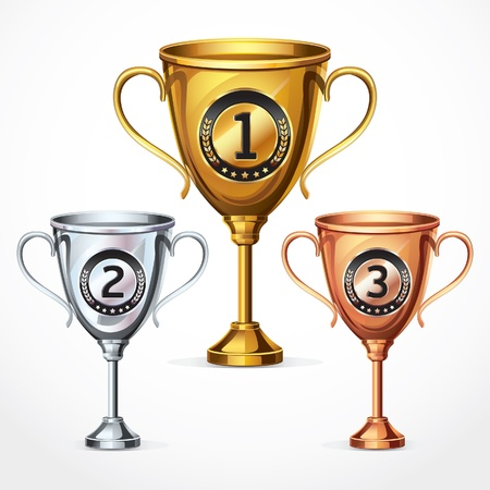 Trophy cups illustration Vector