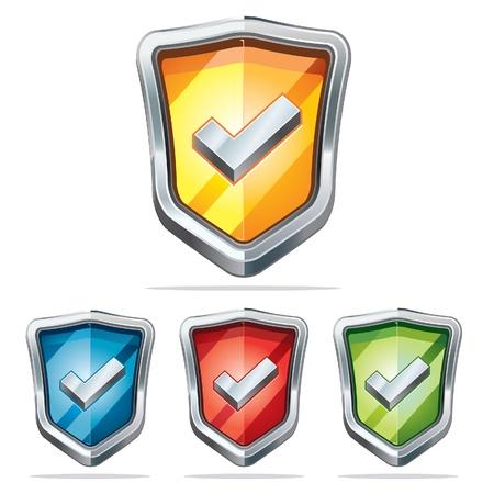 canta: Schermo di protezione della sicurezza icone illustrazione