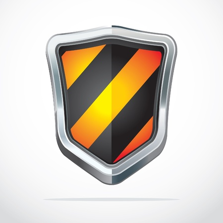 secure site: Protection shield security icons illustration