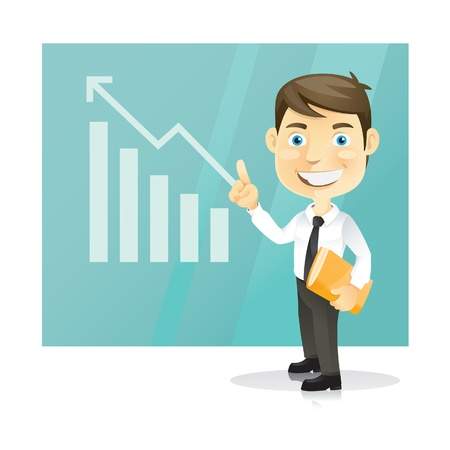 Successful business man  Cartoon character  Vector