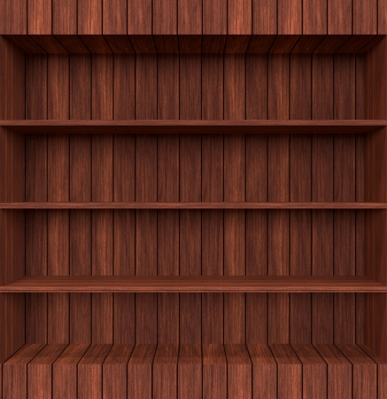 3d Old Wooden book Shelf photo