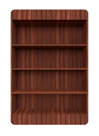 3d Old Wooden book Shelf Stock Photo - 13927010
