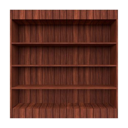 the 3d: 3d estante viejo libro de Madera