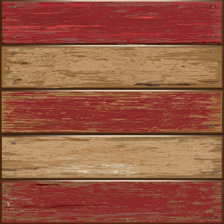 wood planks: Old color wooden texture background illustrator Illustration