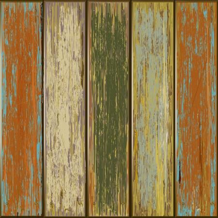 planche de bois: Ancien illustrateur de couleur en bois texture de fond Illustration