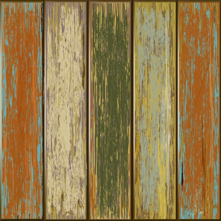 Old color wooden texture background illustrator Stock Vector - 13927027