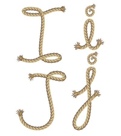 phonetics: Rope alphabet  vector illustration