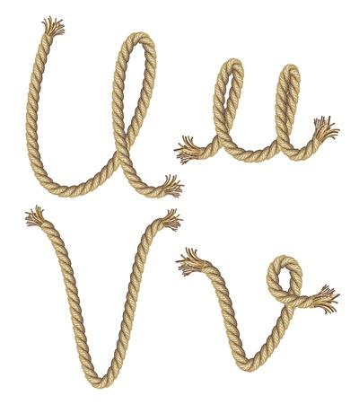 font: Alfabeto de cuerda ilustraci�n vectorial
