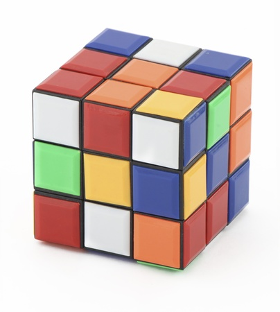 white cube: Rubik