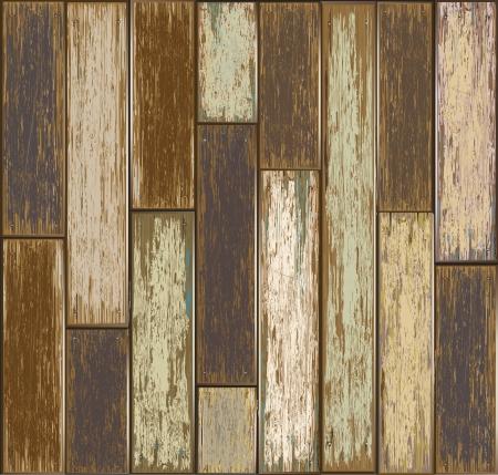 wooden doors: Textura de madera vieja ilustraci�n de fondo Vectores