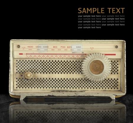 빈티지 라디오.