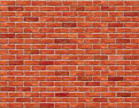brique: Mur de briques rouge seamless background Vector illustration - texture pour la r�plique continue