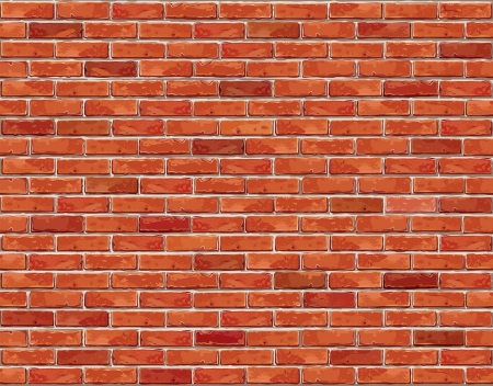 brick: Red brick wall seamless Vector illustration background - texture pattern for continuous replicate