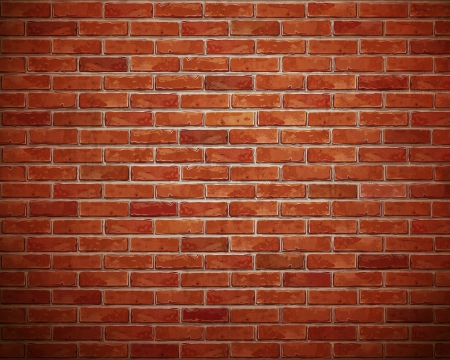 plaster: Red brick wall background