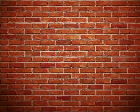 brique: Rouge brique mur du fond
