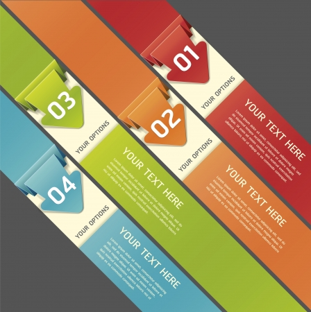 decision: Colorful Origami Style Number Options Banner   Illustration