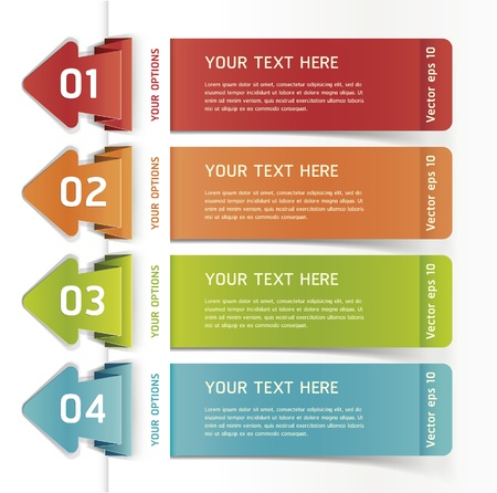 option: Colorful Origami Style Number Options Banner    Illustration