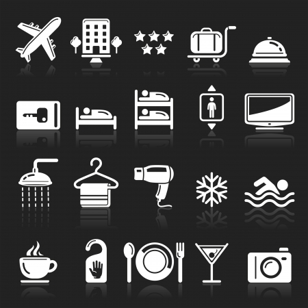 accommodation: Hotel icons set