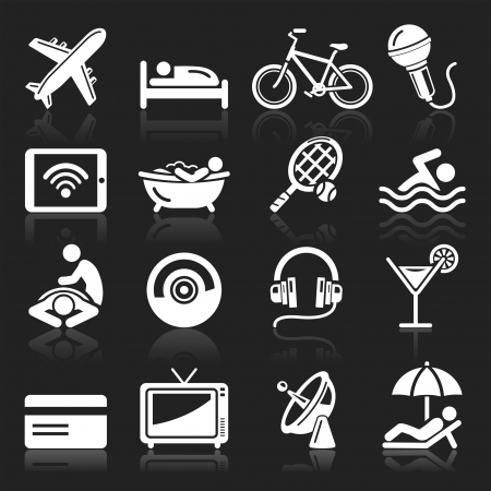 Hotel icons set Stock Vector - 15281272