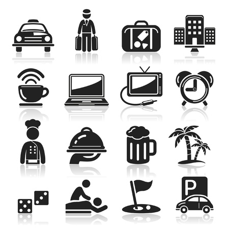 hotel icon: Hotel icons set