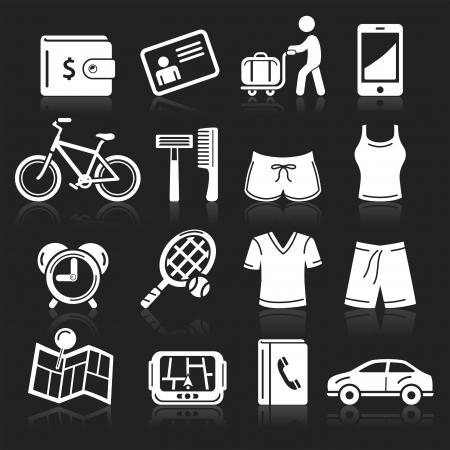 rasoir: Travel icons mis en