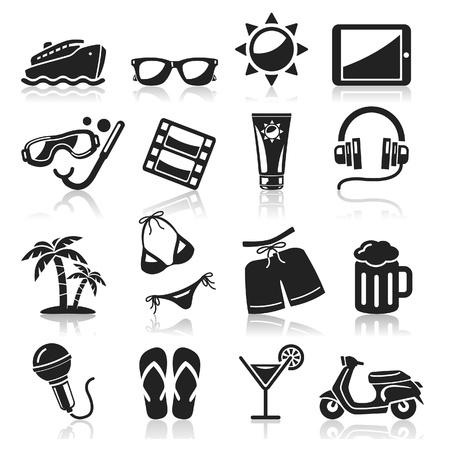 turismo: Iconos Set Viaje Vectores