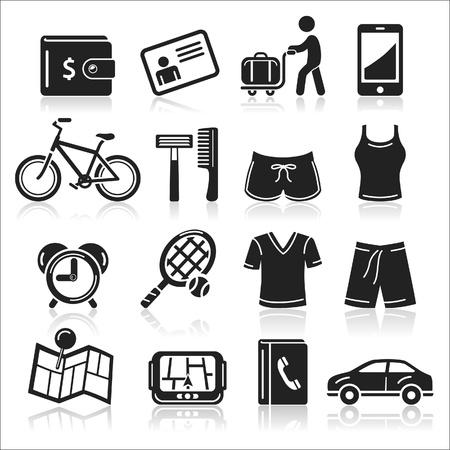shorts: Iconos Set Viaje Vectores