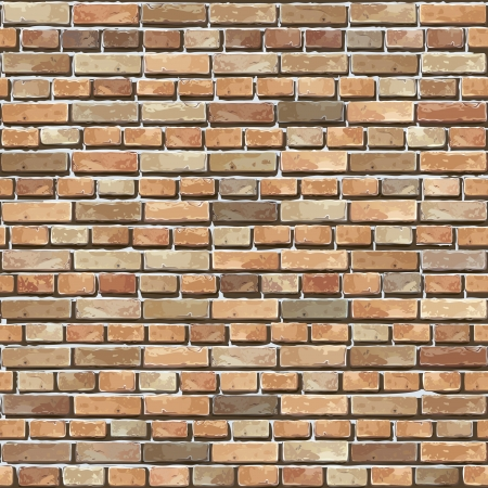 Brick wall seamless illustration background - texture pattern for continuous replicate  Vector