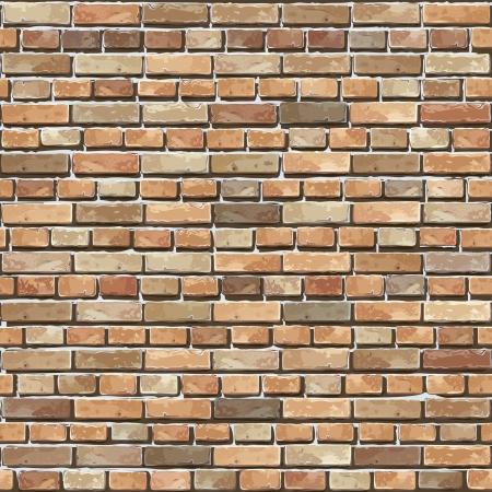 materiali edili: Muro di mattoni di sfondo senza soluzione di continuit�, illustrazione - pattern trama per la replica continua Vettoriali