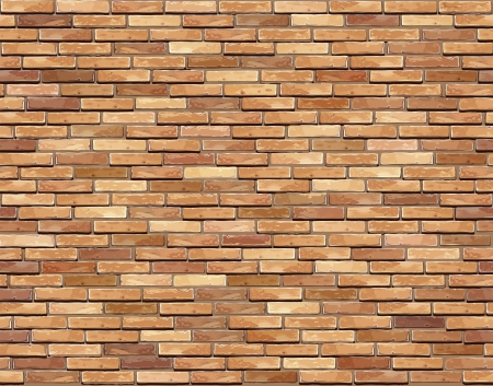 Brick wall seamless illustration background - texture pattern for continuous replicate