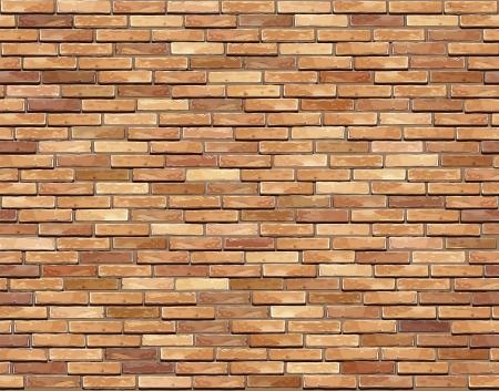 Ceglany mur bez szwu ilustracja - wzór tekstury dla ciągłego powtórzeniach Ilustracje wektorowe