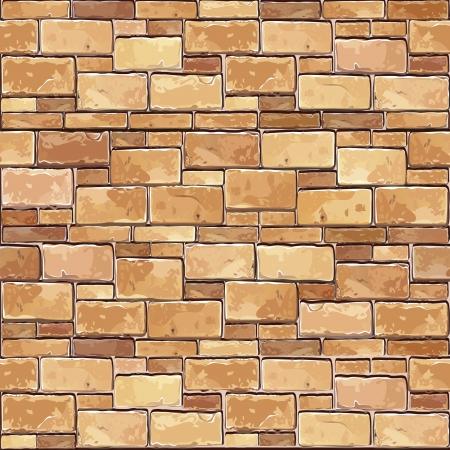 Stenen Stenen muur naadloze Vector illustratie achtergrond - textuur patroon voor continue repliceren Stock Illustratie
