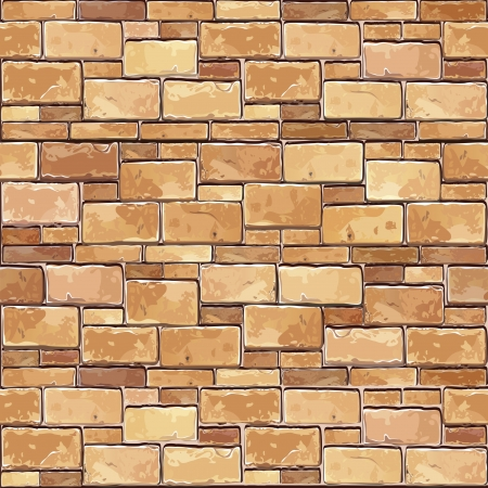 Stone Brick wall seamless Vector illustration background - texture pattern for continuous replicate  Vector
