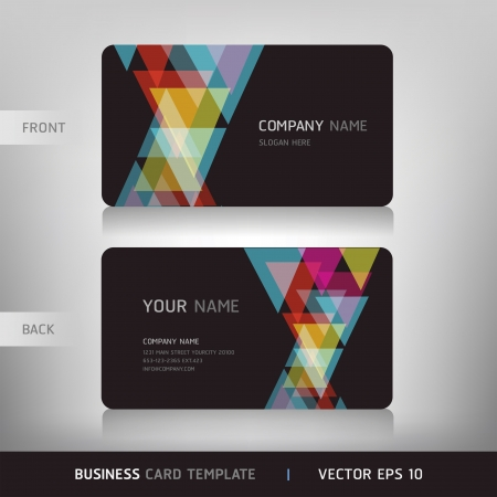 leaflet: Business Card Set  Vector illustration