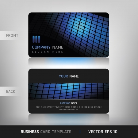 carte visite: Business Card Set Vector illustration