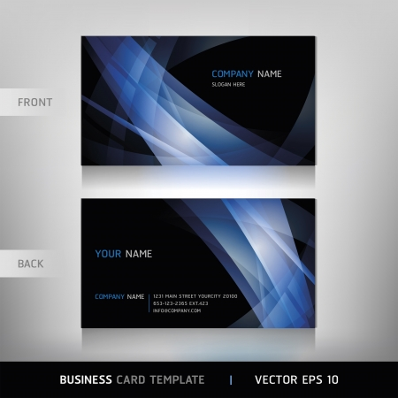 papírnictví: Business Card Set Vektorové ilustrace Ilustrace