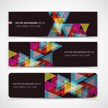 triangle shape: Vector Abstract Header Background Illustration