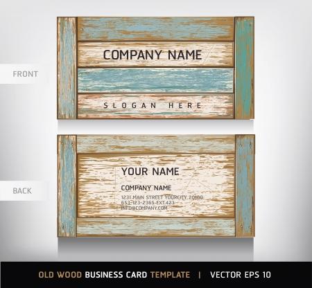 planche de bois: Vieux fond en bois carte de texture d'affaires. illustration vectorielle. Illustration