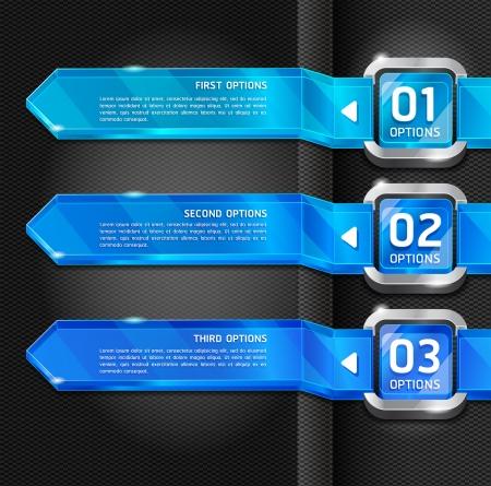 Botones Página web Blue Style Número opciones de banners y tarjeta de fondo. Ilustración vectorial Foto de archivo - 15843398