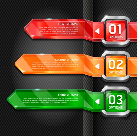 Colorful Buttons Website Style Number Options Banner & Card Background. Vector illustration Stock Vector - 15843399