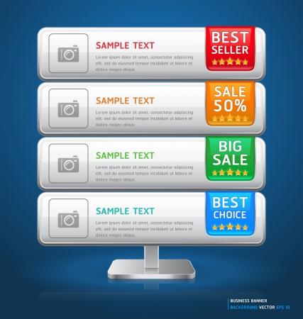 Soporte de Empresas Display Banner Tarjeta ilustración vectorial Foto de archivo - 15843403