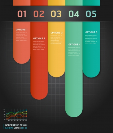 Colorful Infographics Number Options Banner   Card  Vector