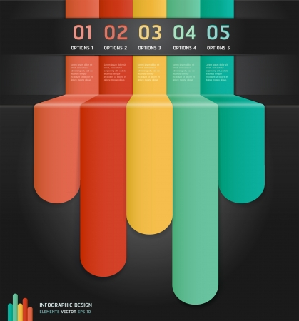 infocharts: Colorful Infographics Number Options Banner  Card