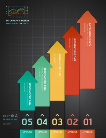 versions: Colorful Infographics Number Options Banner   Card
