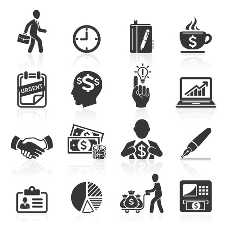 round icons: Business icons, management and human resources set4