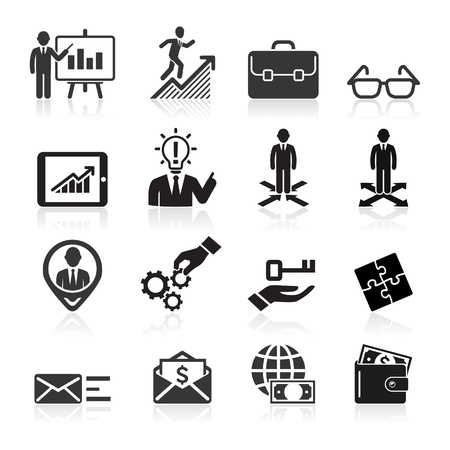 round icons: Business icons, management and human resources set5