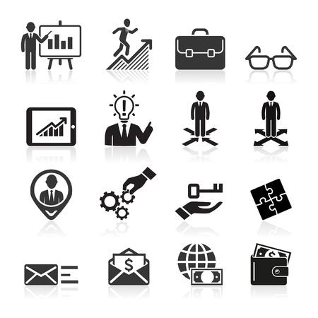 contratos: Iconos de negocios, gestión y recursos humanos Set5 Vectores